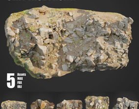 3D model Cliff Face pack A bundle