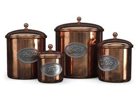 3D model Vintage copper jars