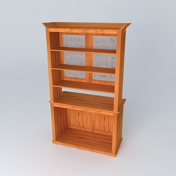 Sideboard free 3d model max obj 3ds fbx stl dae for Sideboard 3d