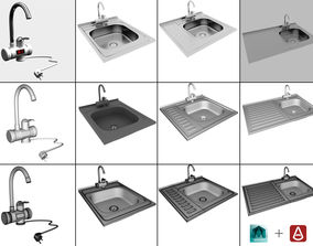 Faucet with instantaneous water heater 3D model