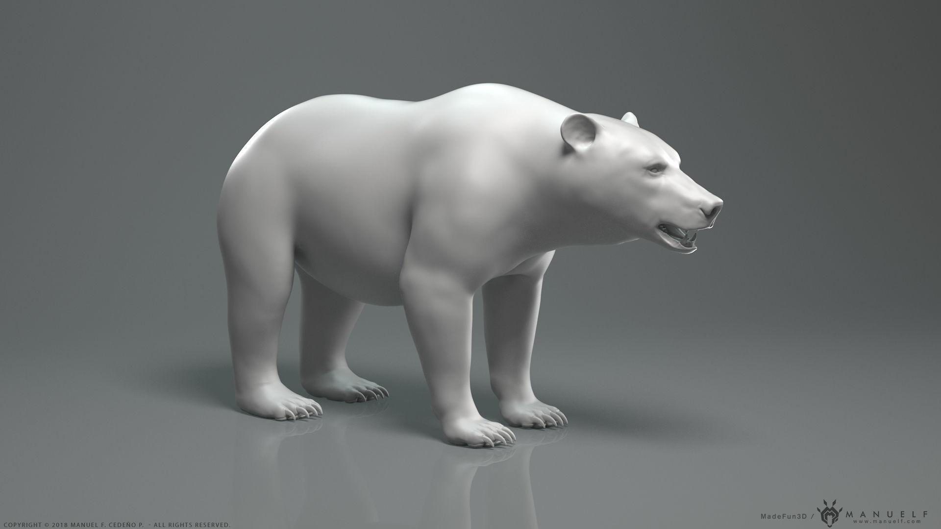 Brown Bear - Highpoly Sculpture
