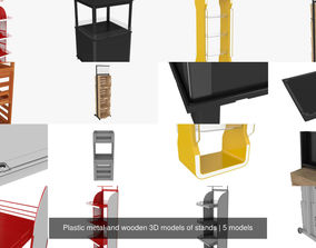Plastic metal and wooden 3D models of stands