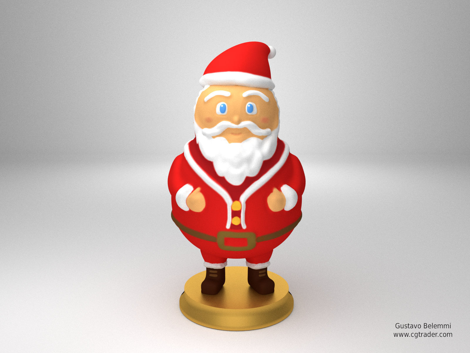 graphic regarding Santa Claus Printable Pictures referred to as Sculpture of Santa Claus 3D Print Fashion