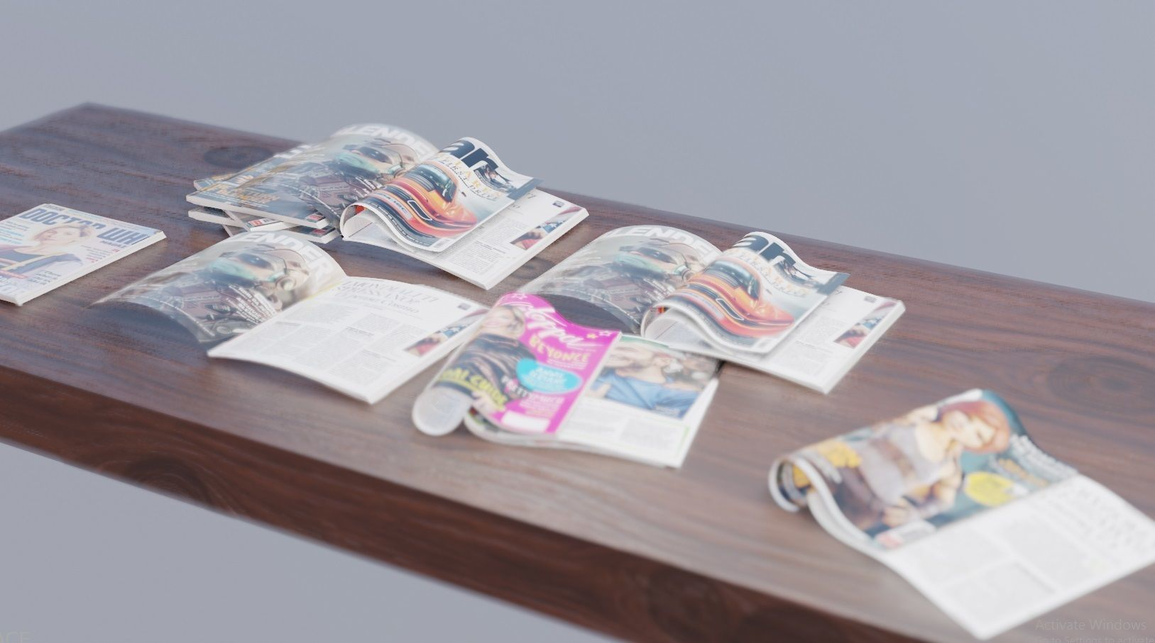realistic collection of magazines