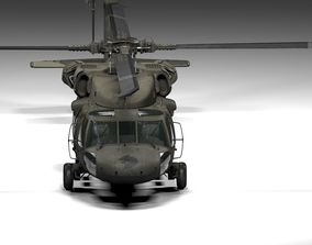 3D asset UH 60 Black Hawk Lowpoly