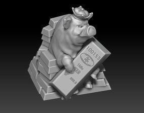 3D print model Mascot 2019 rich pig