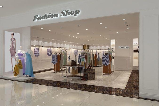 fashion boutique 01 3d model max fbx 1