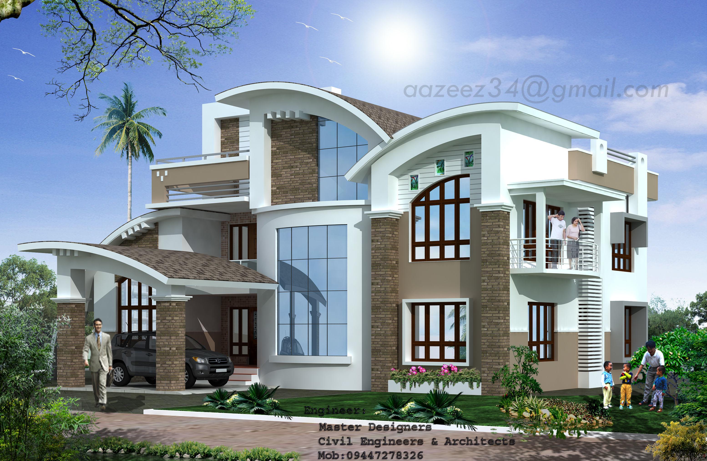 Modern Home Design 3d Print Model