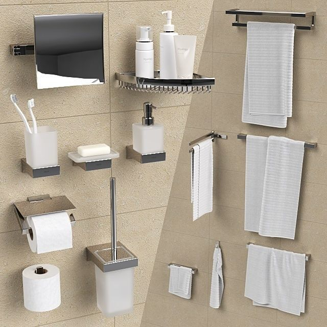 Bathroom accessories Grohe Selection Cube | 3D model