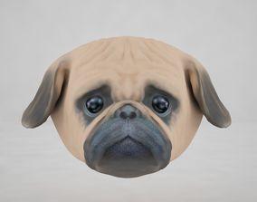 3D asset Pug Face