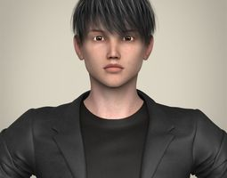 Realistic Young Handsome Boy 3D model