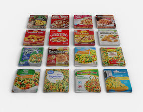 Frozen food refrigerated or cold groceries Pizza 3D model
