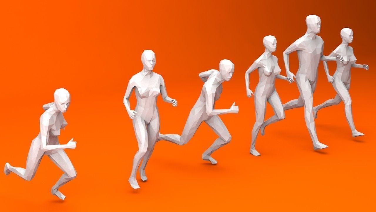6 Running People Minimalist
