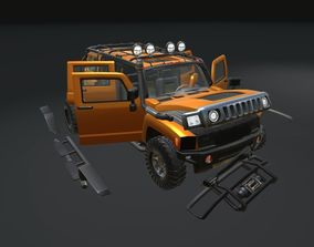 3D model PBR Game Ready Real Car 1