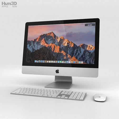 apple imac 21-5-inch 2017 3d model max obj mtl 3ds fbx c4d lwo lw lws 1