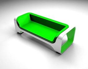 esquina Green sofa 3D model