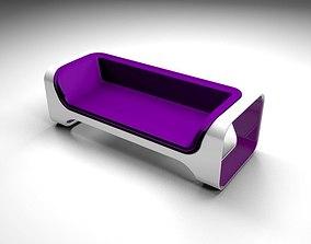 3D model Purple sofa