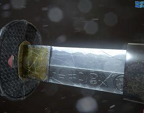Katana samurai sword 3D model