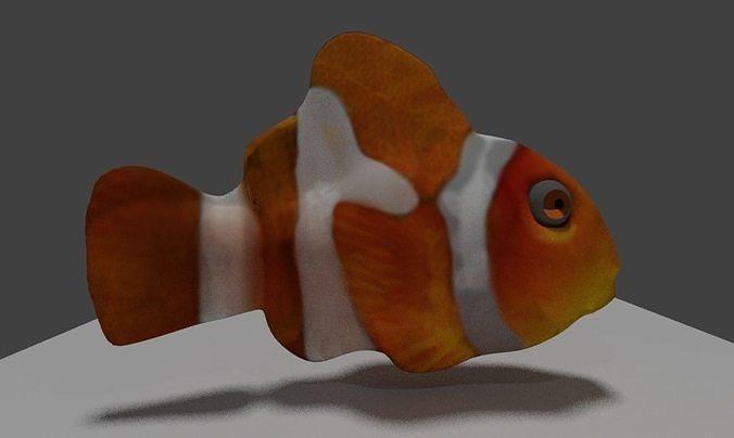 clownfish 3d model blend 1