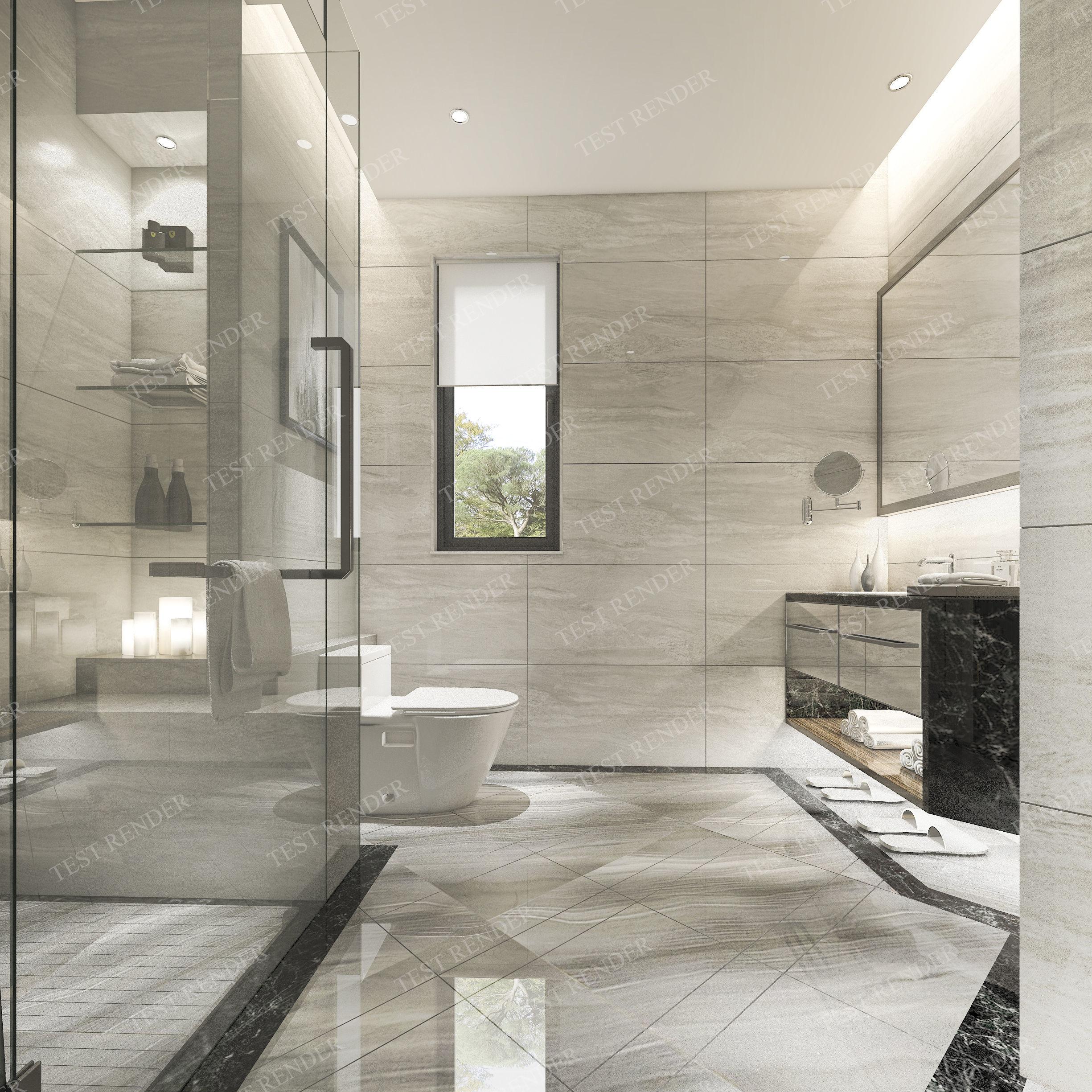 3D Model Modern Luxury Marble Toilet 2