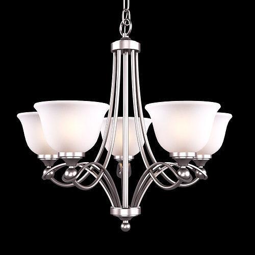home decorators collection 5-light antique nickel chandelier 3d model max obj mtl 1