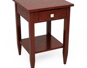 3D Winsome Wood Richmond Walnut End Table