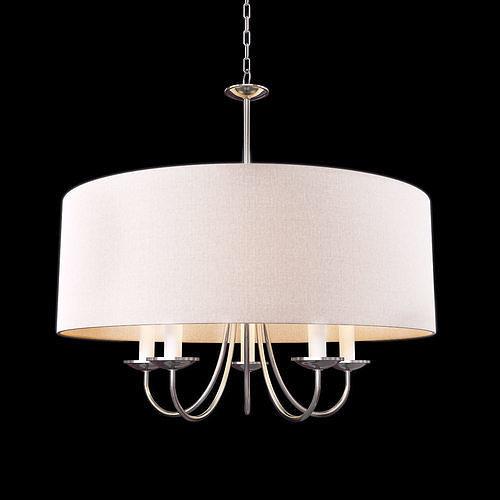 home decorators collection 5-light polished nickel chandelier 3d model max obj mtl 1