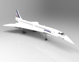 Concorde Studio Max 3D model