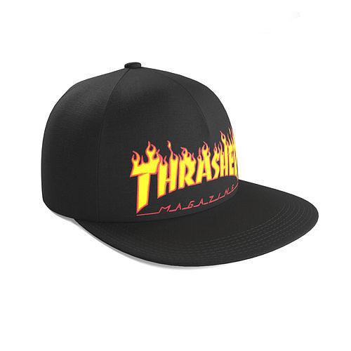 thrasher snapback 3d model max obj mtl fbx mat 1