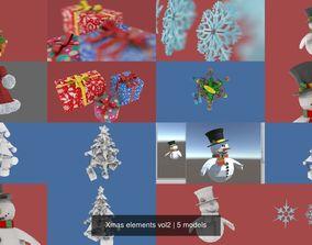 Xmas elements vol2 3D
