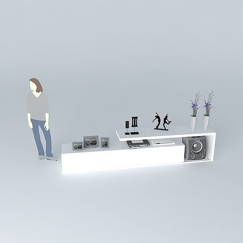 2 Rack Tv 3d Model Max Obj 3ds Fbx Stl Dae 3