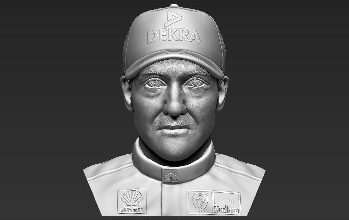 Michael Schumacher bust 3D printing ready stl obj formats