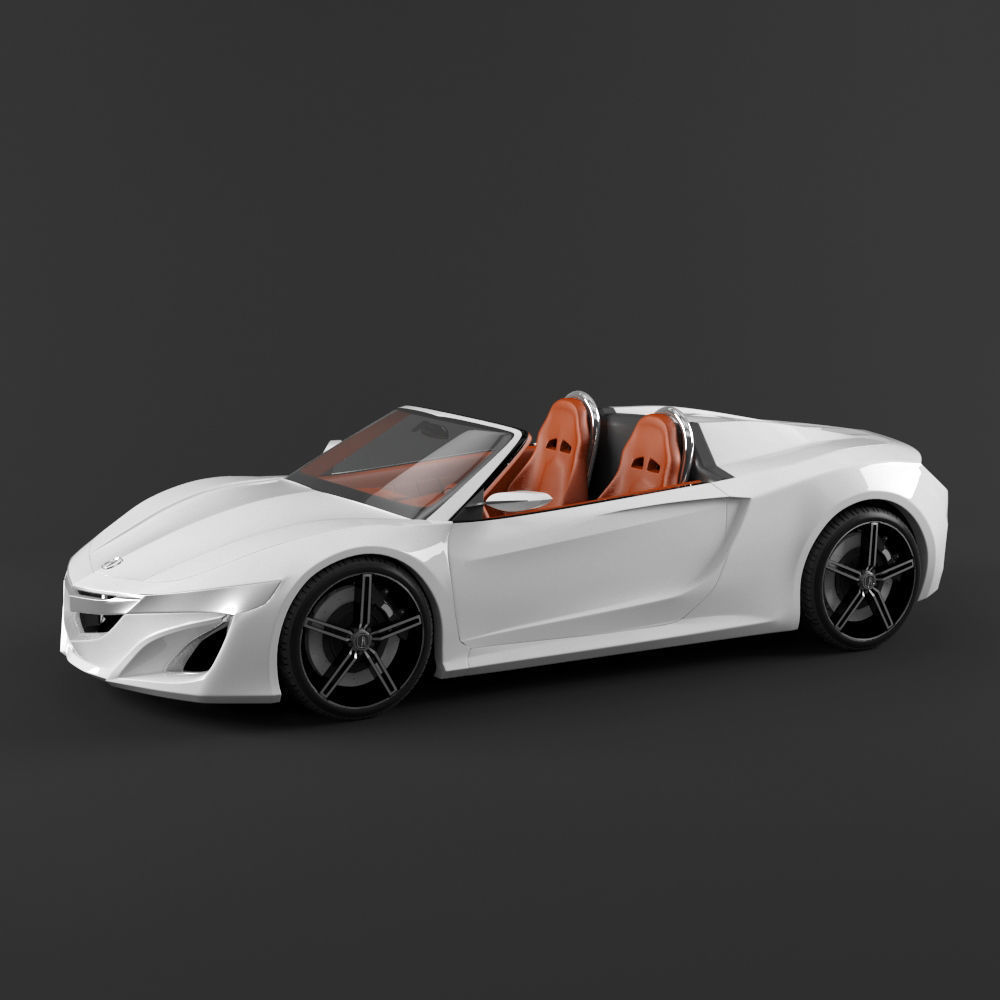 3D Model Acura NSX Roadster Automotive