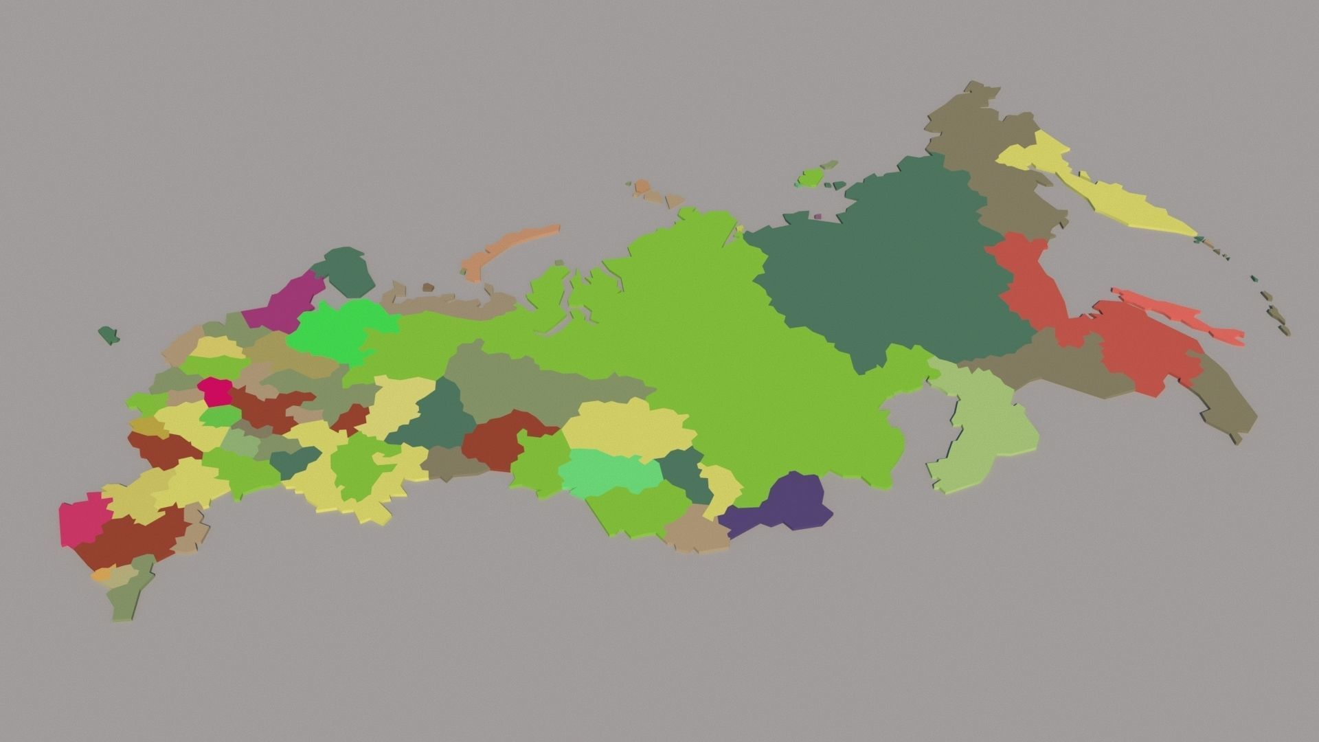 map of Russian Federation 3D asset low-poly | CGTrader