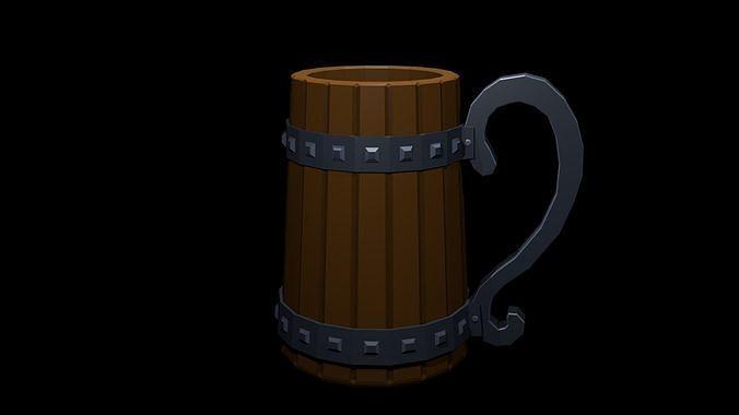 Low Poly Beer Mug 2