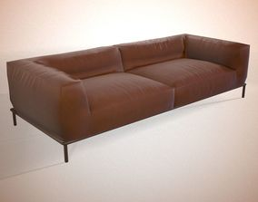 3D model realtime Modern leather sofa