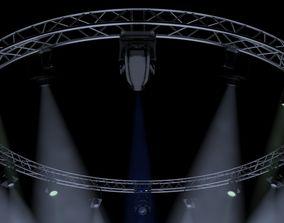 CircleSquareTruss700cm-StageLights 3D model