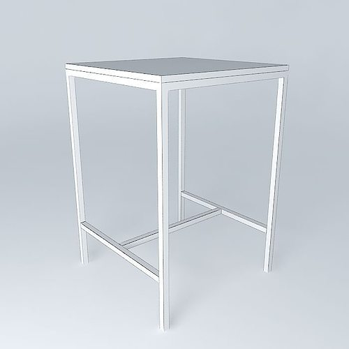 High square dining table Long Island Maisons du Monde 3D model MAX ...
