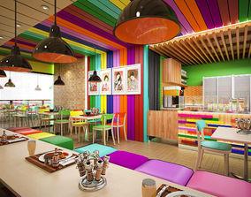 Japanesse Cafe Itadaikimasu 3D model