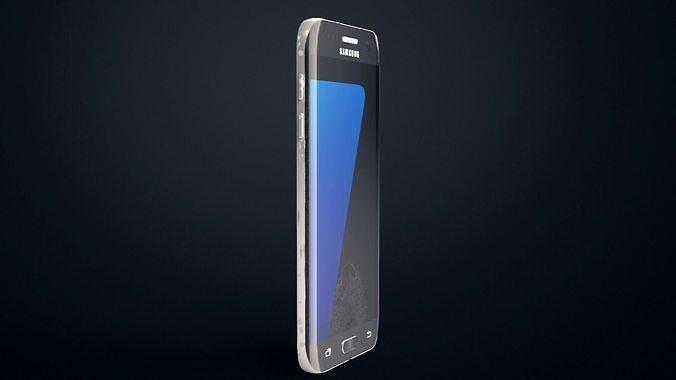 worn galaxy s7 edge  3d model obj mtl ige igs iges stp f3d 1
