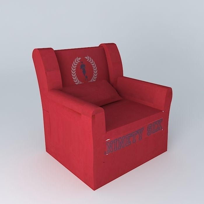Children s armchair red COTTAGE houses the world 3D model ...