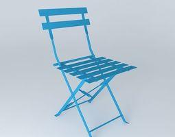 blue chair GUINGUETTE 3D model