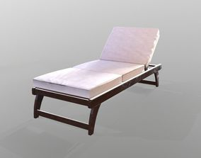 Chaise lounge 3D model realtime PBR