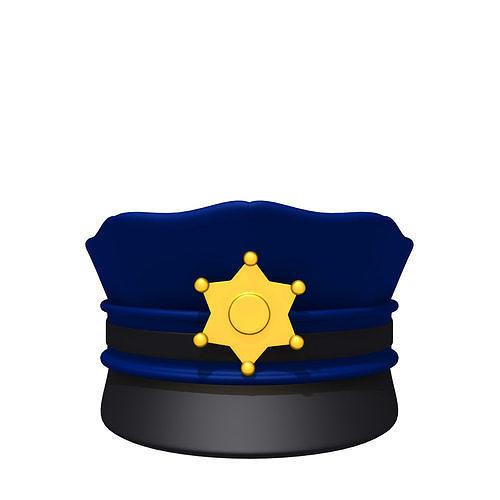 7d0bc332d77 3D model Police hat 02