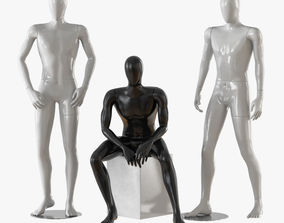 3D model Three male mannequins 20