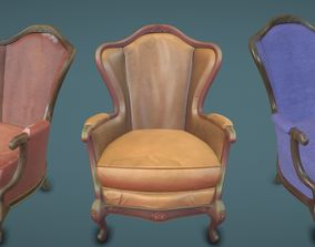 3D asset Chair 3 texture set