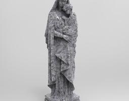 italian virgin statue 3d