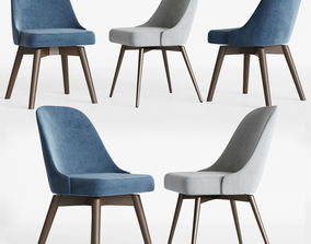 3D model Mid-Century Swivel Office Chairs Set Westelm