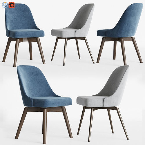 West elm office chair Helvetica Stlfinder 3d Model Midcentury Swivel Office Chairs Set Westelm