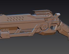 Reaper Blackwatch Reyes gun from 3D printable model 1